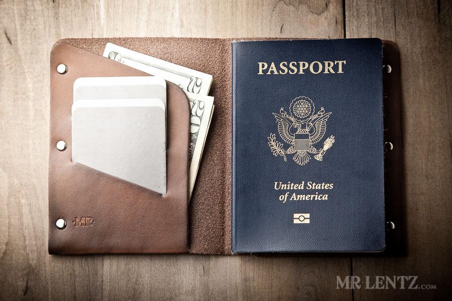 Mr. Lentz Leather Passport Wallet