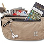 Zero Grid Money Belt wRFID Blocking 2 in 1 Travel Wallet & Passport Holder