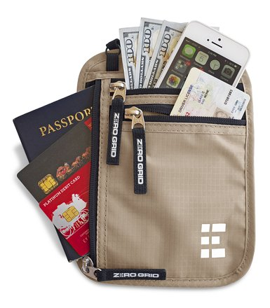 REVIEW – Zero Grid Neck Pouch Passport Holder & Travel Wallet