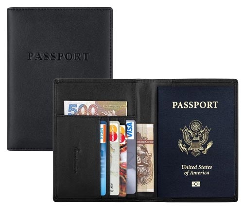 Travelambo-RFID-Blocking-Genuine-Leather-Passport-Holder-Wallet