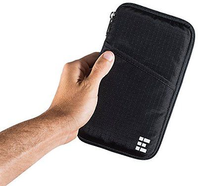 Zero Grid RFID Travel Wallet & Passport Holder