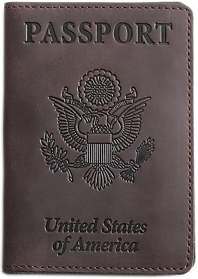 Shvigel Leather Travel Wallet Passport Holder