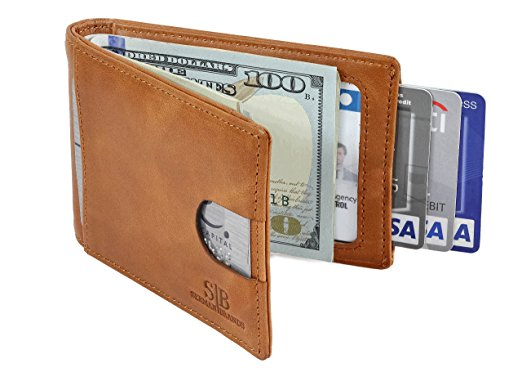 SERMAN BRANDS RFID Leather Money Clip 1.0